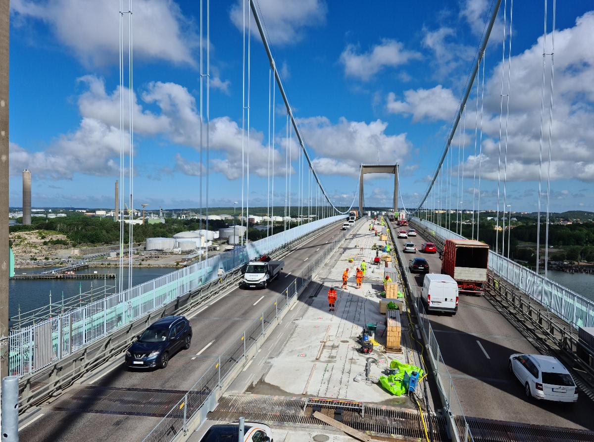Prace renowacyjne i żelbetowe mostu Älvsborgsbron w Göteborgu, Röda Sten (Szwecja)