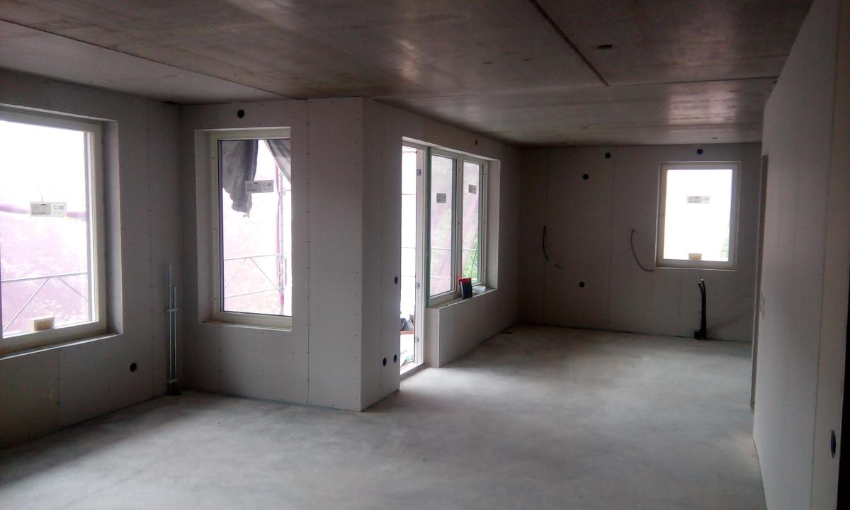 Ściany karton-gipsowe w budynku mieszkalnym wielorodzinnym w Hovås, Hovås Allè 24 (Szwecja)