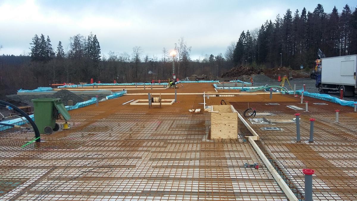 Prace betonowe dla projektu Kransmossens Förskola w Borås, Kransvagen 212 (Szwecja)