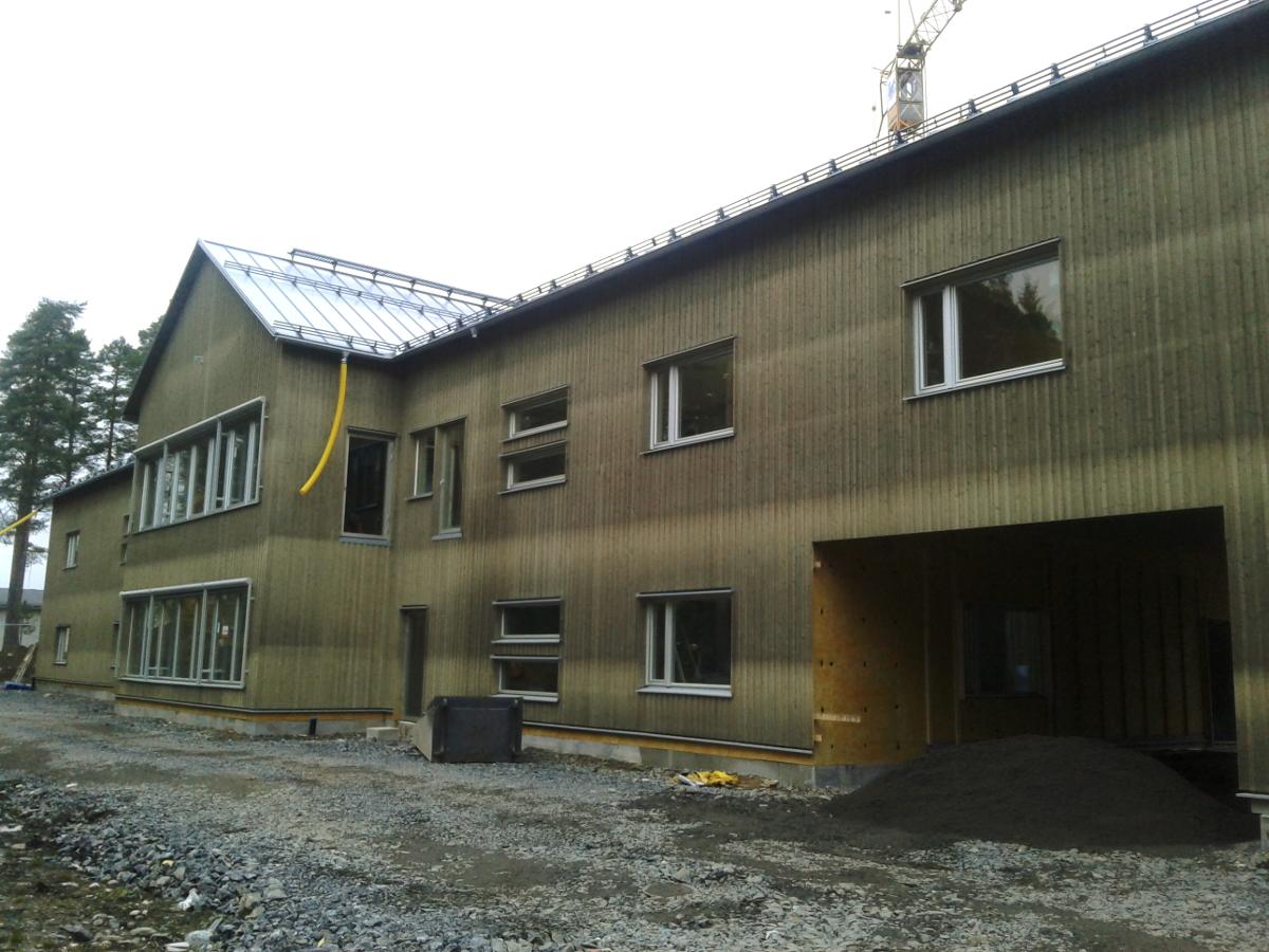 Wykonanie kompletnej konstrukcji betonowej budynku szkoły w Robertsförs, Hantverkargränd 4 (Szwecja)