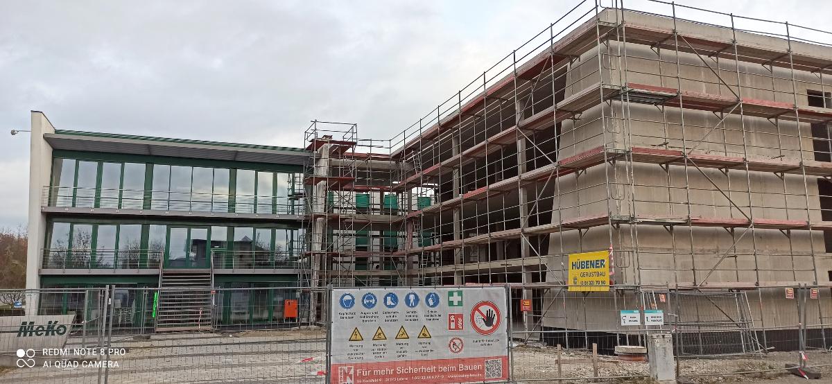 Budowa biurowca firmy MEKO w Sarstedt, Im Kirchfelde (Niemcy)