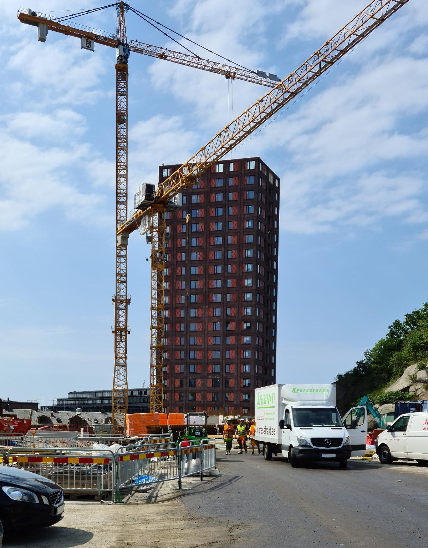 Roboty kartonowo-gipsowe dla pięter 9-35 w budynku Silo 1 w Göteborgu, Bratteråsgatan (Szwecja)