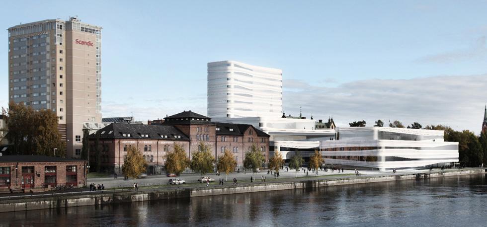 Budowa ośrodka kultury w Umeå (Szwecja)