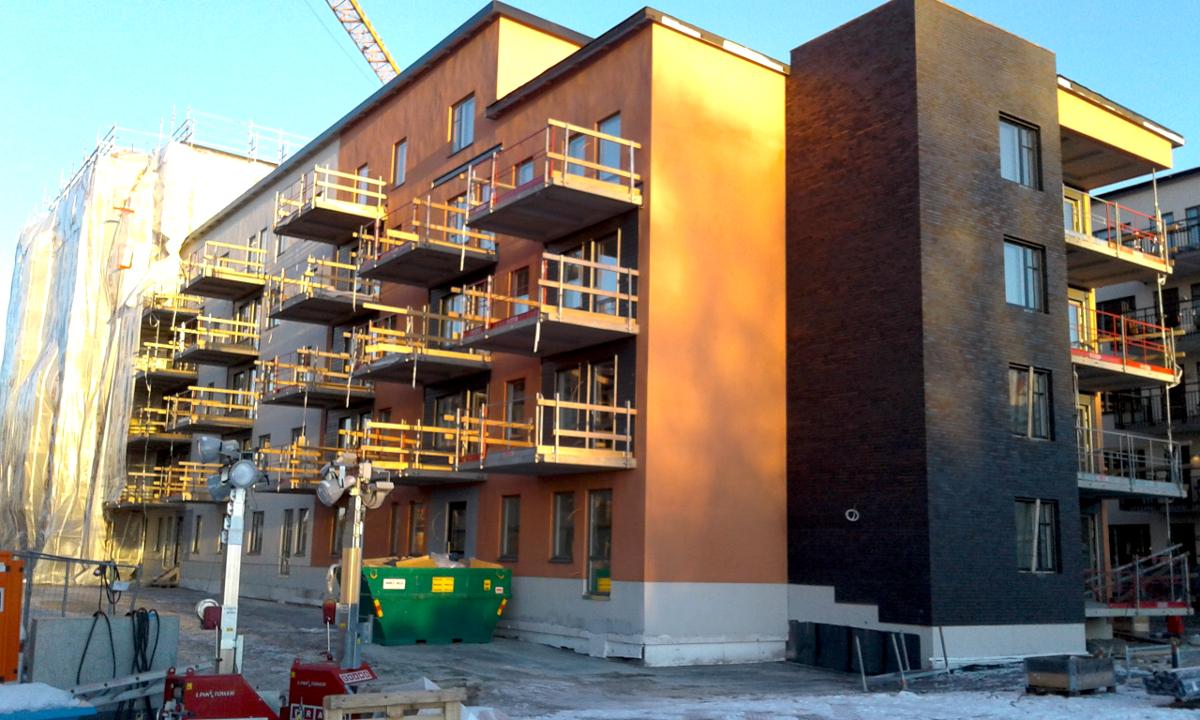 Wykonanie suchej zabudowy w dwóch budynkach mieszkalnych wielorodzinnych w miejscowości Uppsala, Gimogatan 10 (Szwecja)